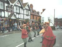 The Horn Dance outside The Crown Inn