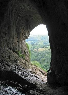 Looking out from Thor's Cave